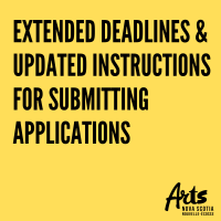 Image: Extended Deadlines & Instructions for Submitting Applications