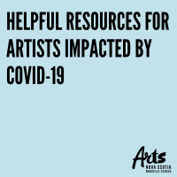 Text: Helpful Resources for Artists Impacted by COVID-19